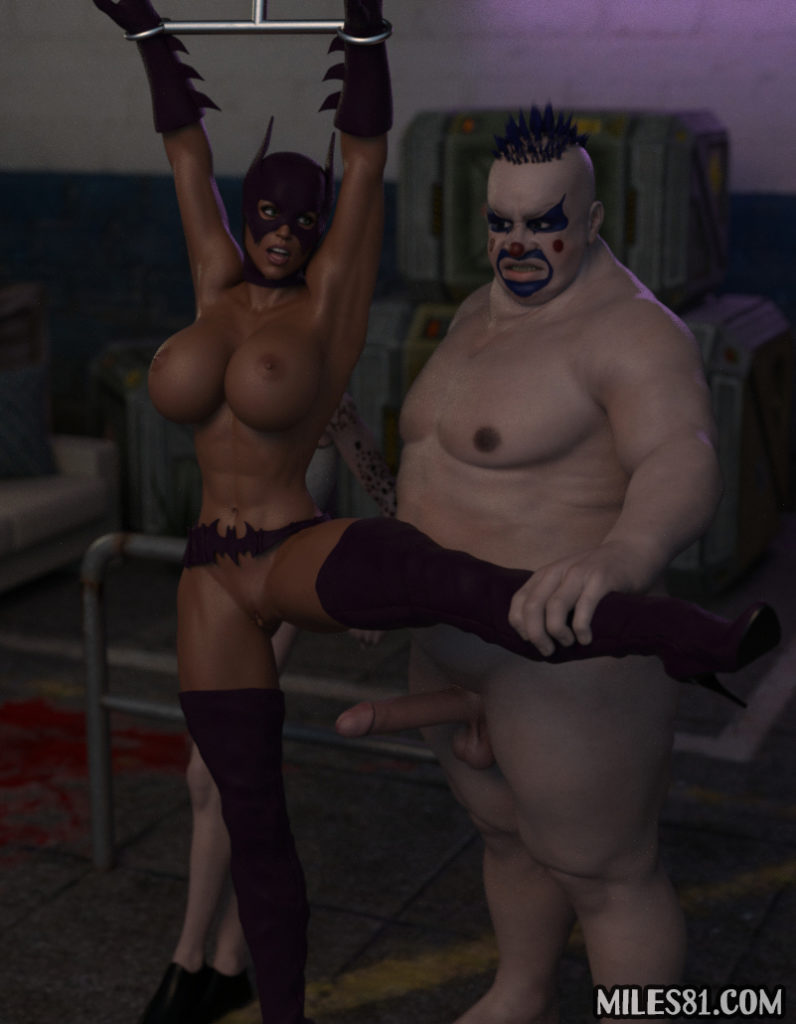 batgirl captured by the joker and his brother, 3d porn comic
